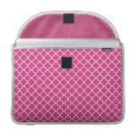 Pink Quatrefoil Clover Pattern MacBook Pro Sleeve