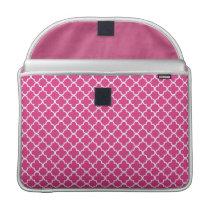 Pink Quatrefoil Clover Pattern Sleeve For MacBook Pro