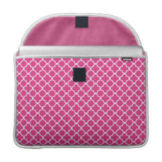 Pink Quatrefoil Clover Pattern Sleeve For MacBook Pro