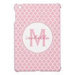 Pink Quatrefoil Monogram Case For The iPad Mini