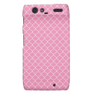 Pink Quatrefoil Pattern Droid RAZR Cover