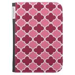 Pink quatrefoil pattern cases for kindle