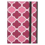 Pink quatrefoil pattern iPad covers