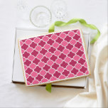 Pink quatrefoil pattern jumbo cookie