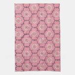 Pink Quatrefoil Pattern KitchenTowel Kitchen Towels