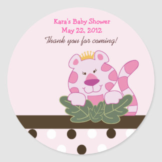 Pink Queen of the Jungle Custom Favor Sticker