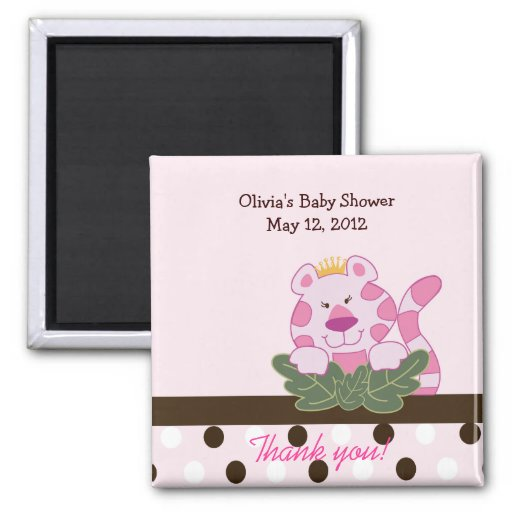 Pink Queen of the Jungle Favor Magnet