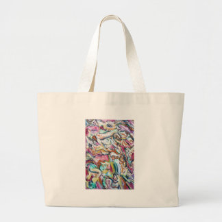 Pink Quetzalcoatl abstract expressionism Tote Bag