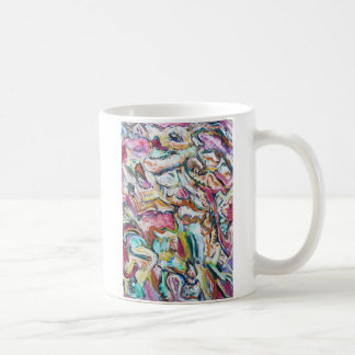 Pink Quetzalcoatl (abstract expressionism) Coffee Mug