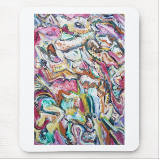 Pink Quetzalcoatl (abstract expressionism) Mouse Pad