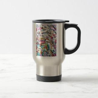 Pink Quetzalcoatl (abstract expressionism) Travel Mug