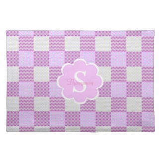 Pink Quilt Like Patten Placemat