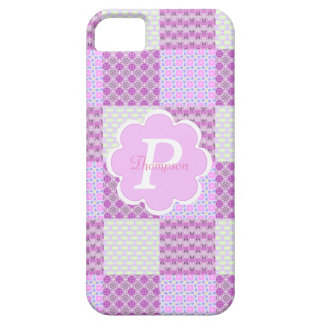 Pink Quilt Like Pattern iPhone SE/5/5s Case