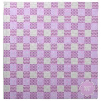 Pink Quilt Like Pattern Napkin