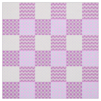 Pink Quilt Like Pattern Personalizable Fabric