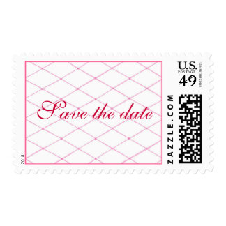 Pink Quilted CrissCross Save the date Stamps