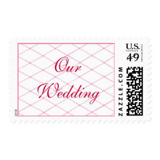 Pink Quilted CrissCross Wedding Stamps