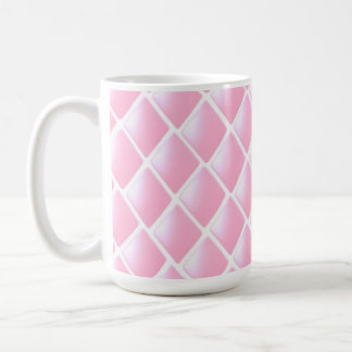 Pink Quilted Diamond Pattern Coffee Mugs