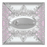 Pink Quinceanera 15 Birthday Party White Diamonds Custom Invites