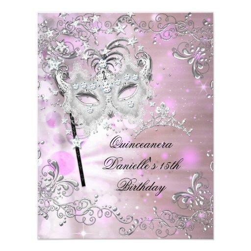 Personalized Masquerade 15th birthday Invitations