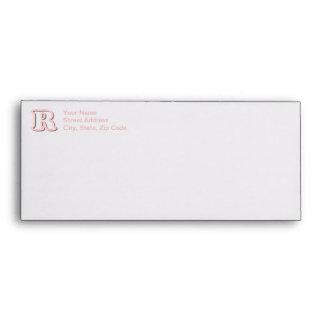 Pink R Monogram Envelope
