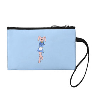 Pink Rabbit Carrying a Cupcake. Coin Wallets