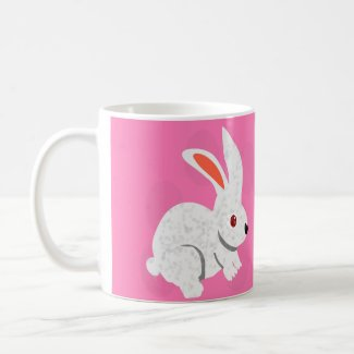 Pink Rabbit Coffee Mug