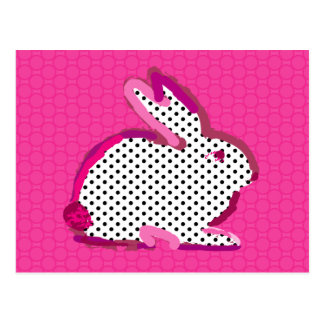 'pink rabbit' digital painting Postcard