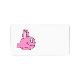 Pink Rabbit Address Label