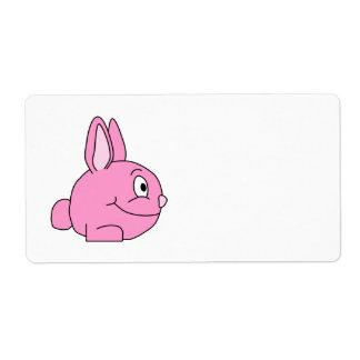 Pink Rabbit Shipping Label