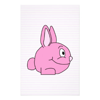 Pink Rabbit with Light Pink Stripe Background. Flyer