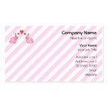 Pink Rabbits with Hearts. Business Card Template