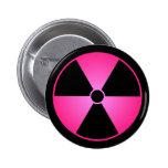 Pink Radiation Symbol Button