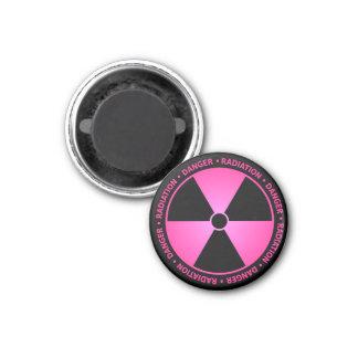 Pink Radiation Warning Magnet