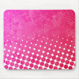 Pink Rage Grunge Art Mousepad