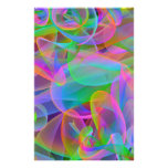 Pink Rainbow Abstract Stationery