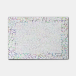 Pink Rainbow and White Star Cluster Kawaii Girl Post-it® Notes
