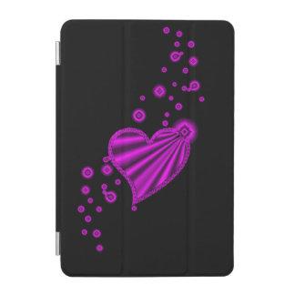 Pink Rainbow Heart with Stars on black iPad Mini Cover