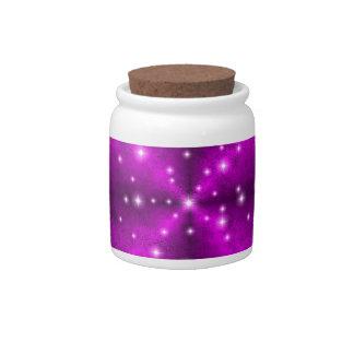 Pink Rainbow in Elephant Skin Leather optics Candy Jars