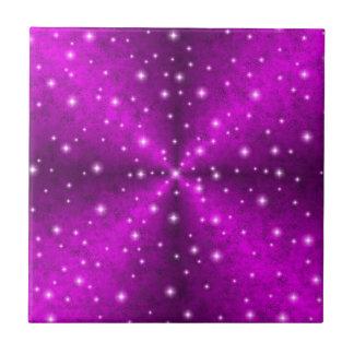 Pink Rainbow in Elephant Skin Leather optics Ceramic Tile