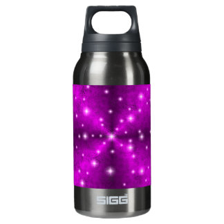 Pink Rainbow in Elephant Skin Leather Optics Insulated Water Bottle