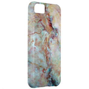 Pink rainbow marble stone finish cover for iPhone 5C