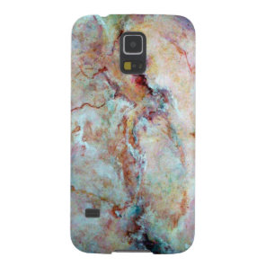 Pink rainbow marble stone finish galaxy s5 cover