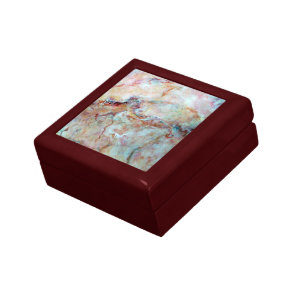 Pink rainbow marble stone finish gift box