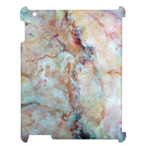 Pink rainbow marble stone finish iPad cover