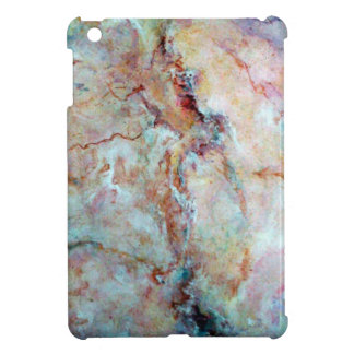 Pink rainbow marble stone finish iPad mini cases