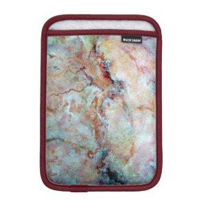 Pink rainbow marble stone finish iPad mini sleeve