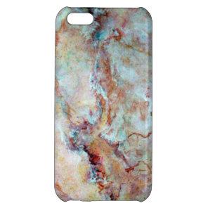Pink rainbow marble stone finish iPhone 5C case