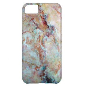 Pink rainbow marble stone finish iPhone 5C cover