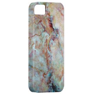 Pink rainbow marble stone finish iPhone SE/5/5s case